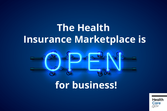 Generic graphic for open enrollment on the Healthcare.gov exchange