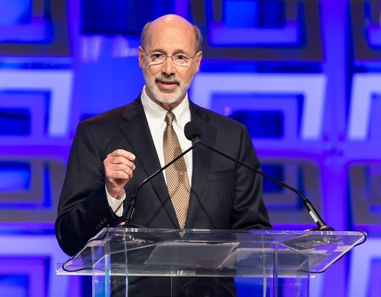 PHILADELPHIA, PA - NOVEMBER 19:  Governor of Pennsylvania Tom Wolf speaks during Pennsylvania Conference For Women 2015 at Pennsylvania Convention Center on November 19, 2015 in Philadelphia, Pennsylvania.  (Photo by Gilbert Carrasquillo/WireImage)