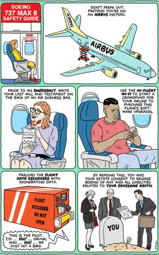 Afbeeldingsresultaat voor boeing 737 max cartoon