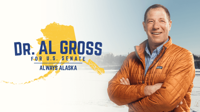 Campaign photo of independent candidate for Senate in Alaska Al Gross.