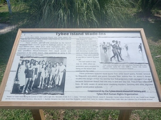 Picture of a plaque in the strip reminiscent of a tie bed