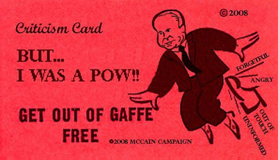 John McCain - Get Out Of Gaffe Free