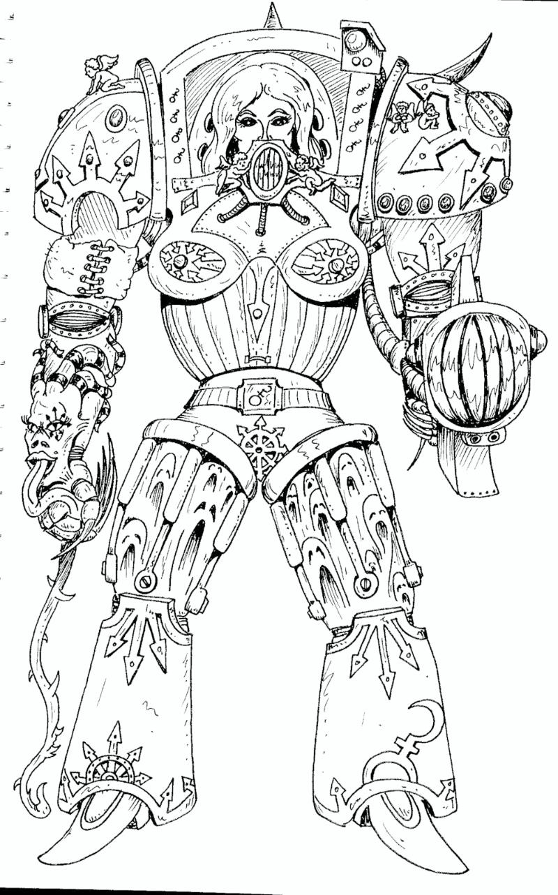 80´s, Artwork, Chaos, Chaos Space Marines, Daemons
