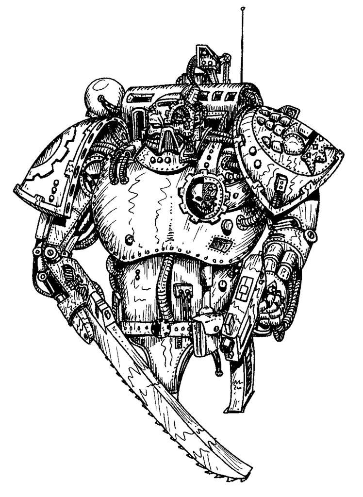 80´s, Artwork, Chaos, Chaos Space Marines, Conversion