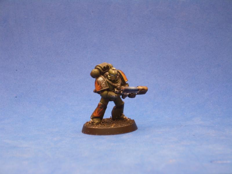 Salamander Veteran With Plasmagun