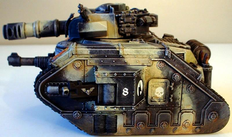 Painting 8th Army Tanks