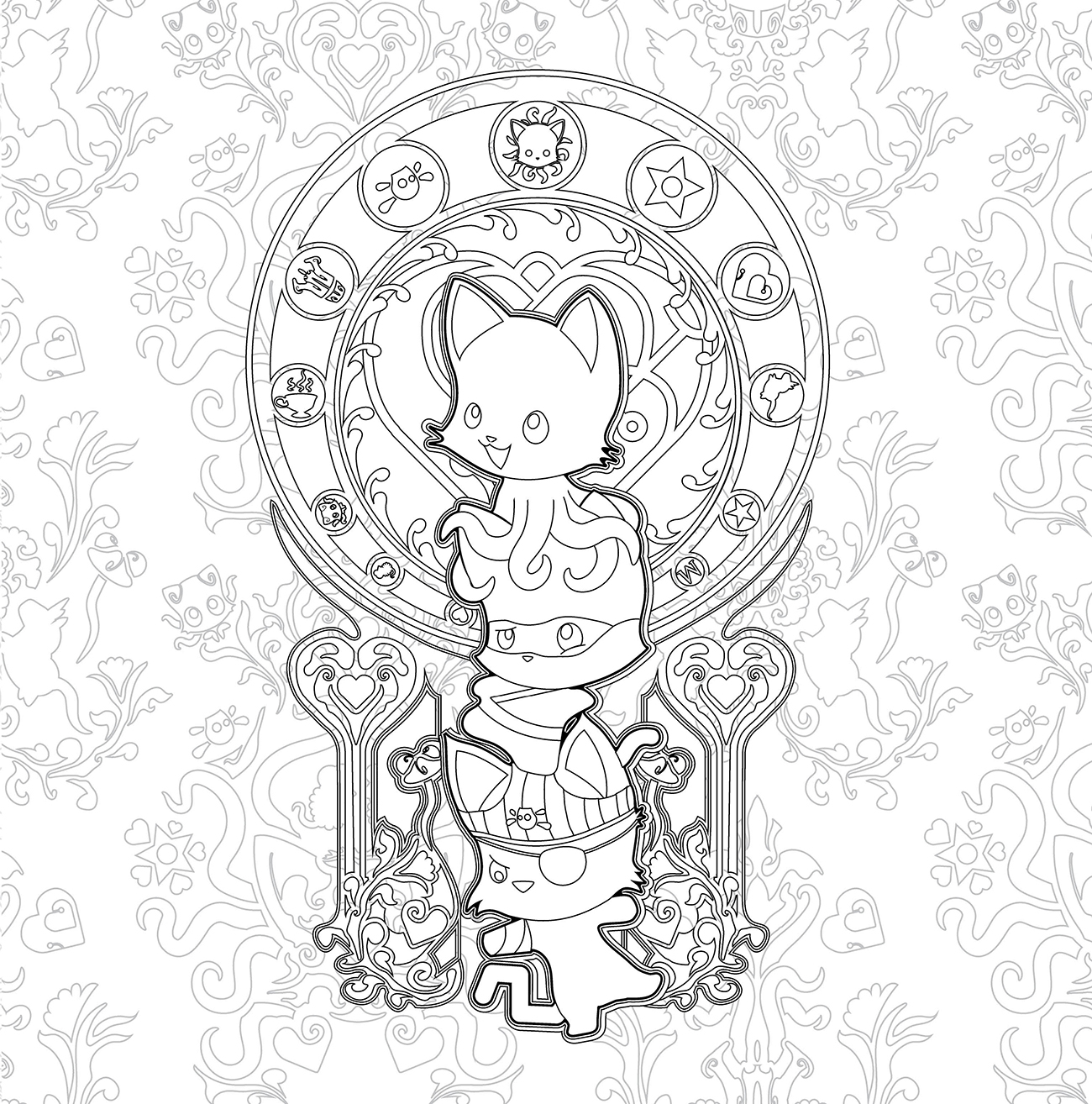 Tentacle Kitty Instagram Coloring Contest [CLOSED