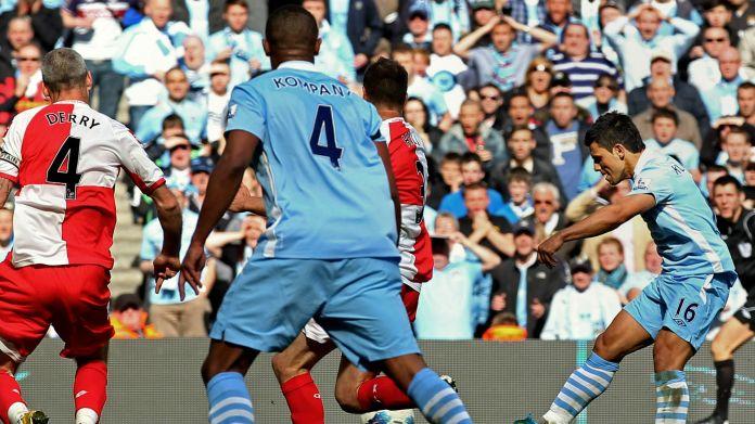 Sergio Aguero Manchester City QPR 2014
