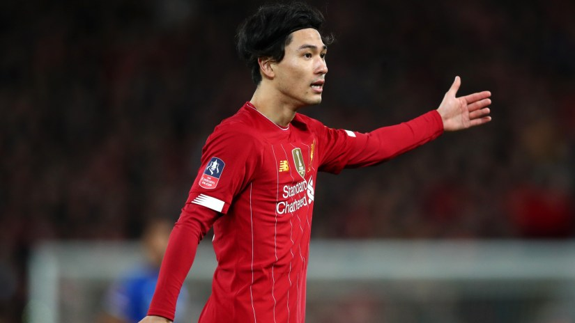 Klopp praises 'outstanding' Minamino after Liverpool beat Everton in FA Cup 1