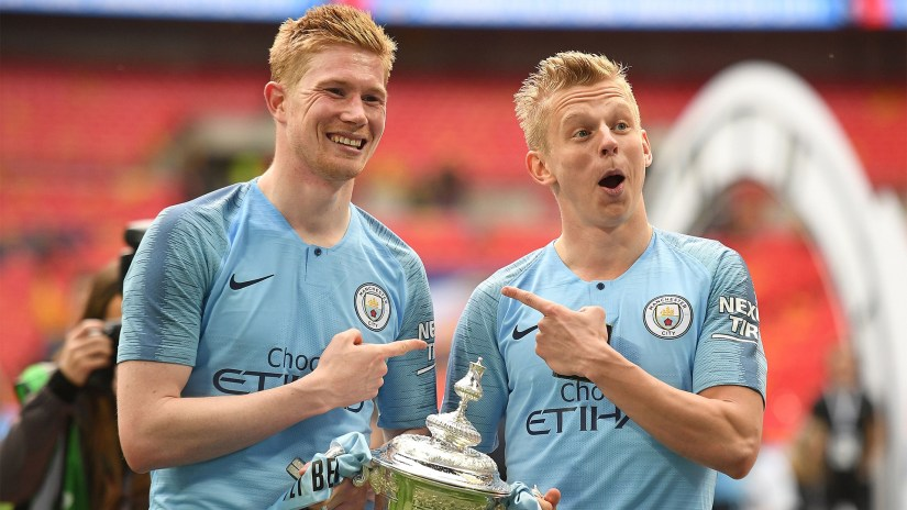Kevin De Bruyne Oleksandr Zinchenko Manchester City FA Cup 2019
