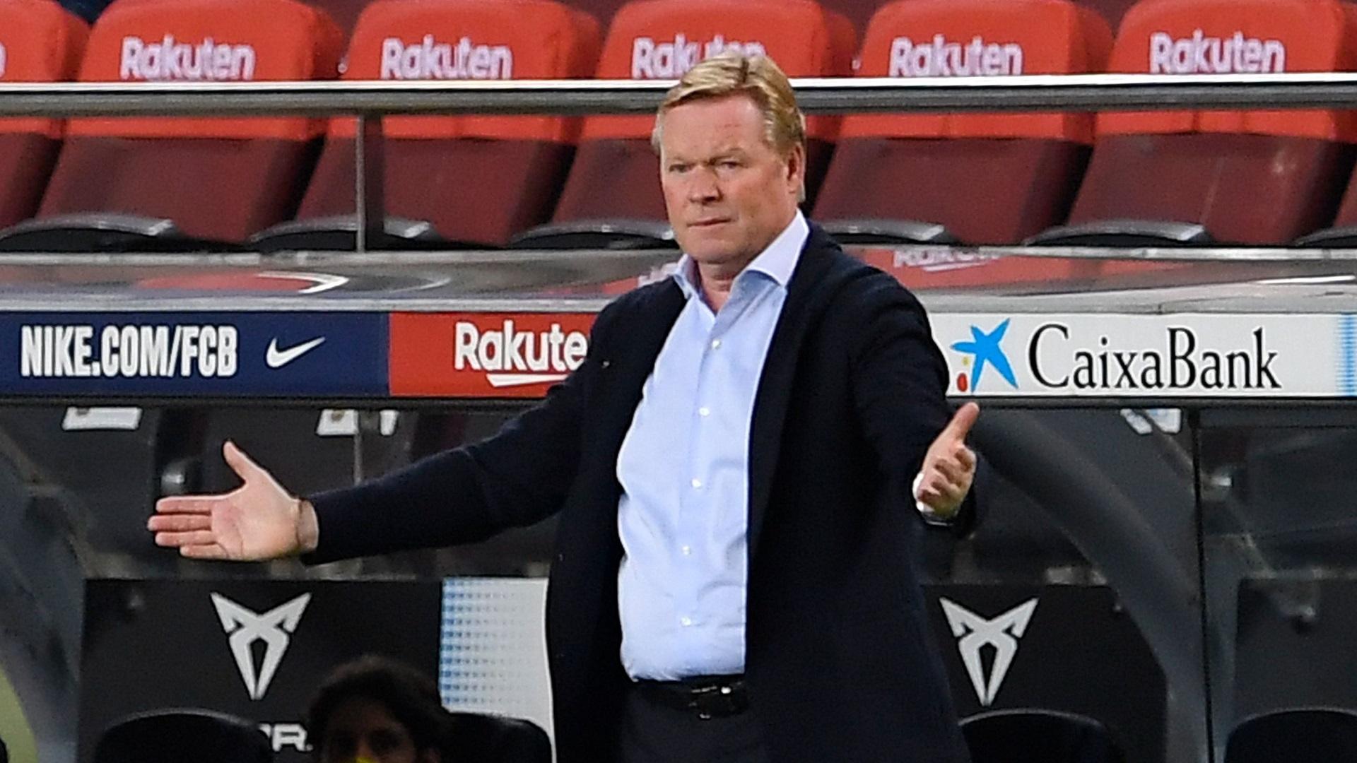 Barcelona interim president backs embattled manager Koeman