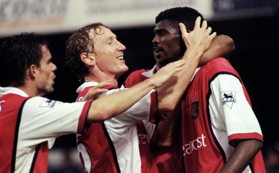 Overmars ,  Parlour and Kanu of Arsenal(1999)