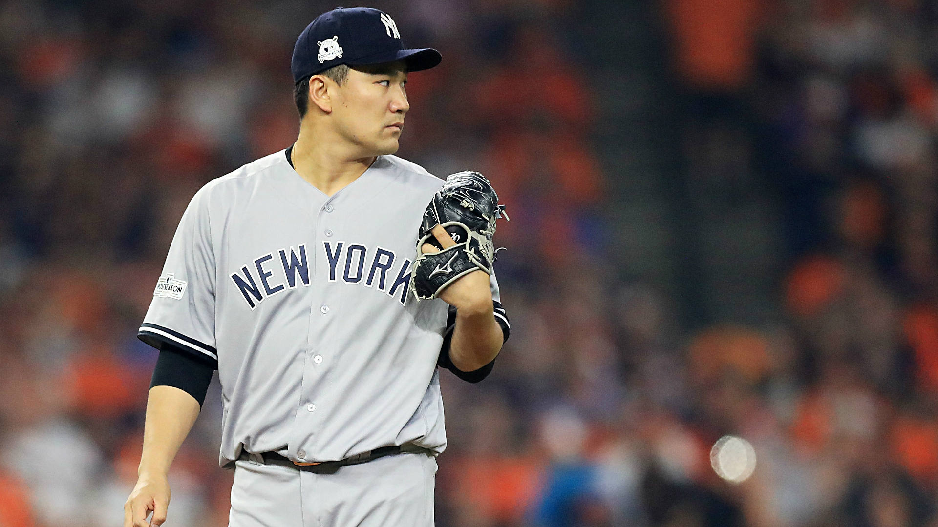 Photo of Masahiro Tanaka hit in head by Giancarlo Stanton line drive throughout Yankees camp