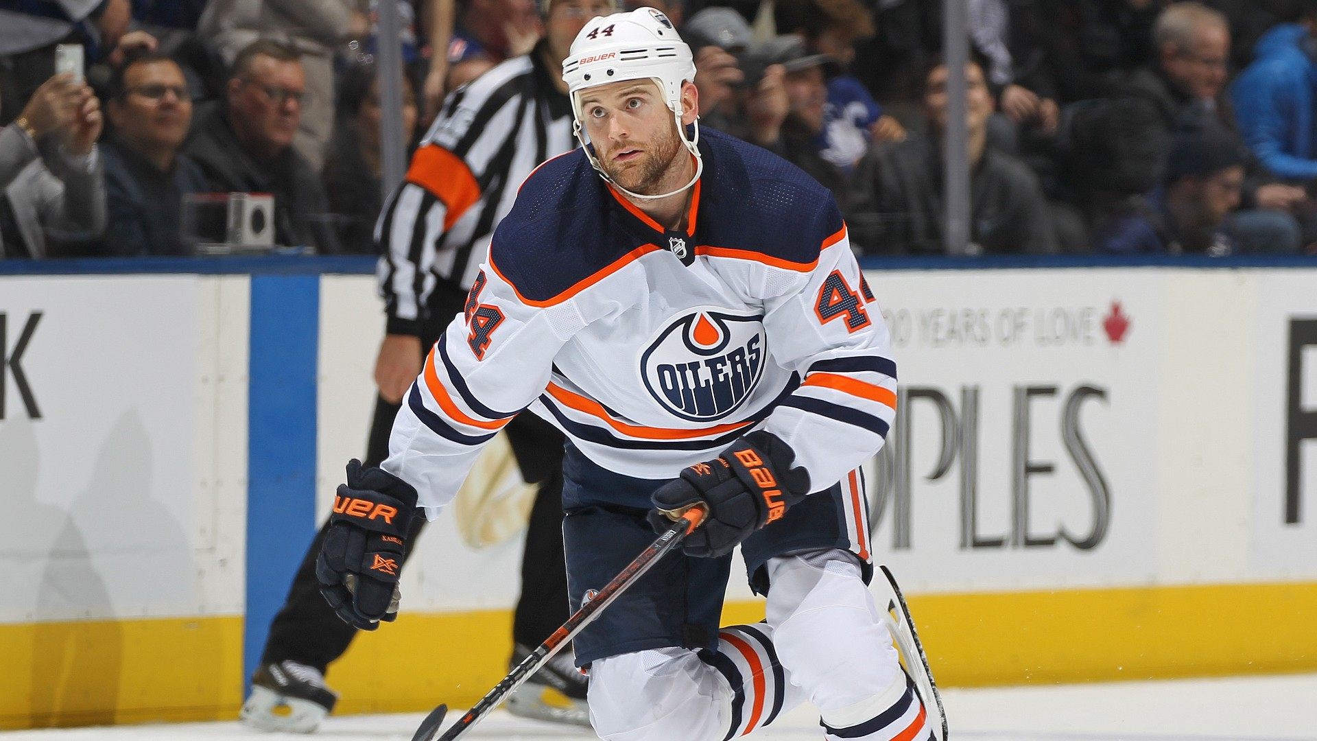 Oilers' Zack Kassian kicks opponent in chest with skate during game