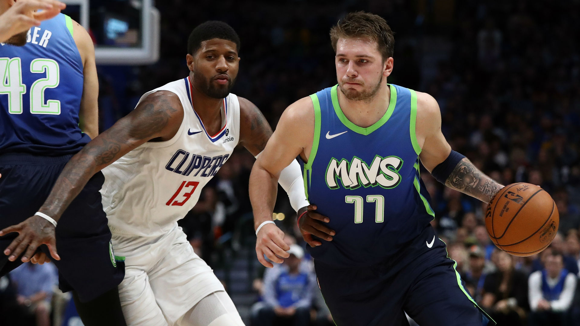 Flipboard Luka Doncic Reacts To Clippers Snapping Mavs 5