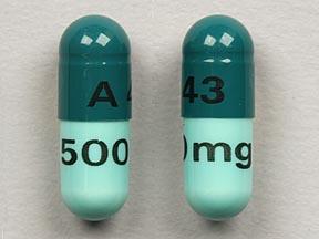 A 43 500 mg Pill - cephalexin 500 mg