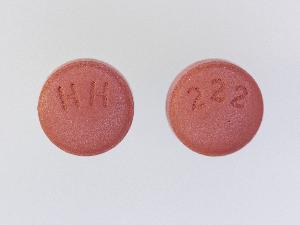 HH 222 Pill - risperidone 0.5 mg