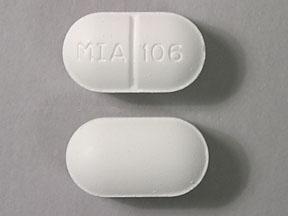 MIA 106 Pill - acetaminophen/butalbital 325 mg / 50mg