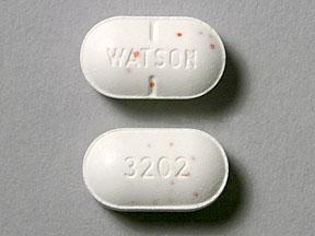 WATSON 3202 Pill - acetaminophen/hydrocodone 325 mg / 5 mg