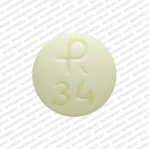 R 34 Pill - clonazepam 1 mg