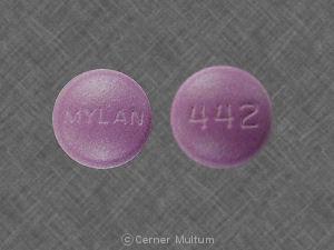 MYLAN 442 Pill - amitriptyline/perphenazine 25 mg / 2 mg