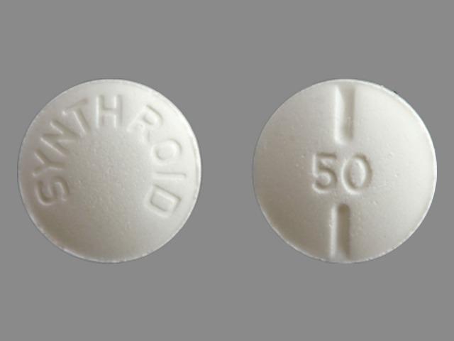 SYNTHROID 50 Pill - Synthroid 50 mcg (0.05 mg)