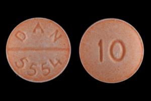 10 DAN 5554 Pill - propranolol 10 mg