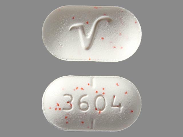 3604 V Pill - acetaminophen/hydrocodone 325 mg / 5 mg