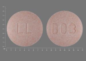 B03 LL Pill - hydrochlorothiazide/lisinopril 25 mg / 20 mg