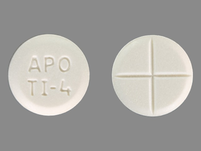 APO TI-4 Pill - tizanidine 4 mg