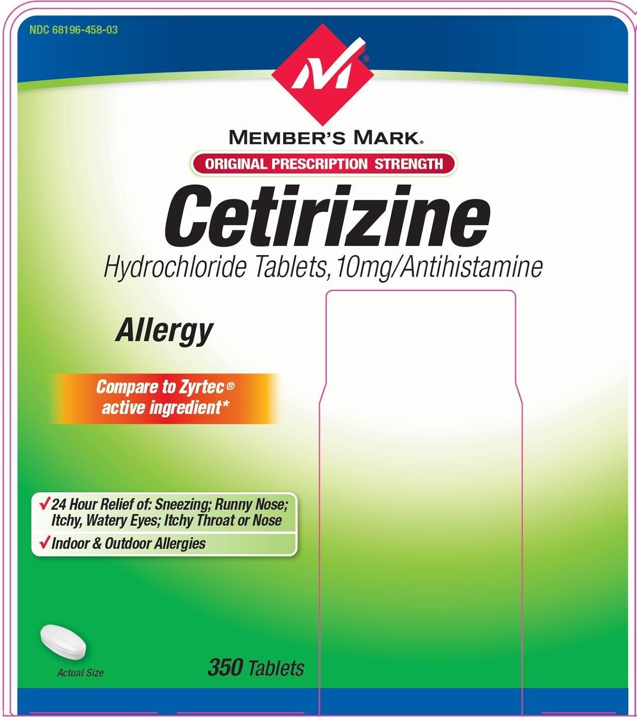 Members mark cetirizine (Sam's West Inc) CETIRIZINE ...