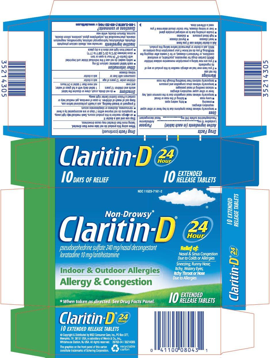 Claritin-D 24 Hour (MSD Consumer Care Inc.) Loratadine ...
