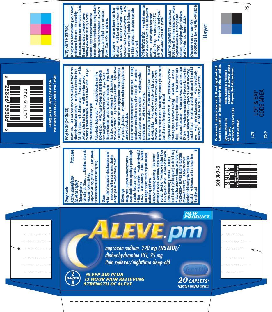 Aleve PM (Bayer HealthCare Consumer Care) DIPHENHYDRAMINE ...
