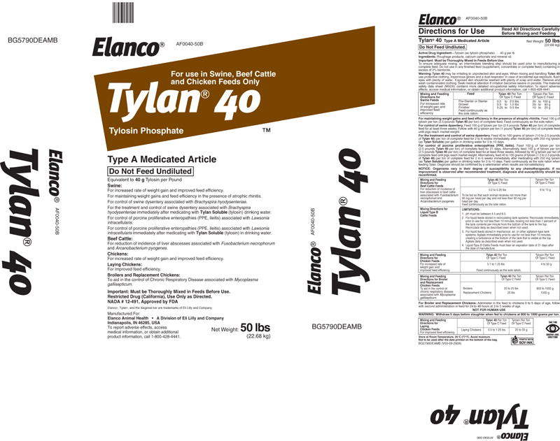 Tylan 40 - FDA prescribing information side effects and uses