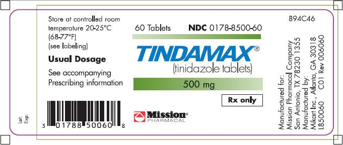 Tindamax - FDA prescribing information side effects and uses
