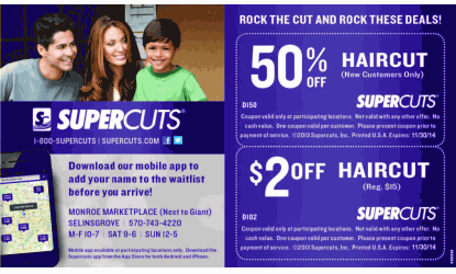 photo relating to Supercut Printable Coupons identify 20+ Tremendous Clips Coupon codes Printable Plans and Models