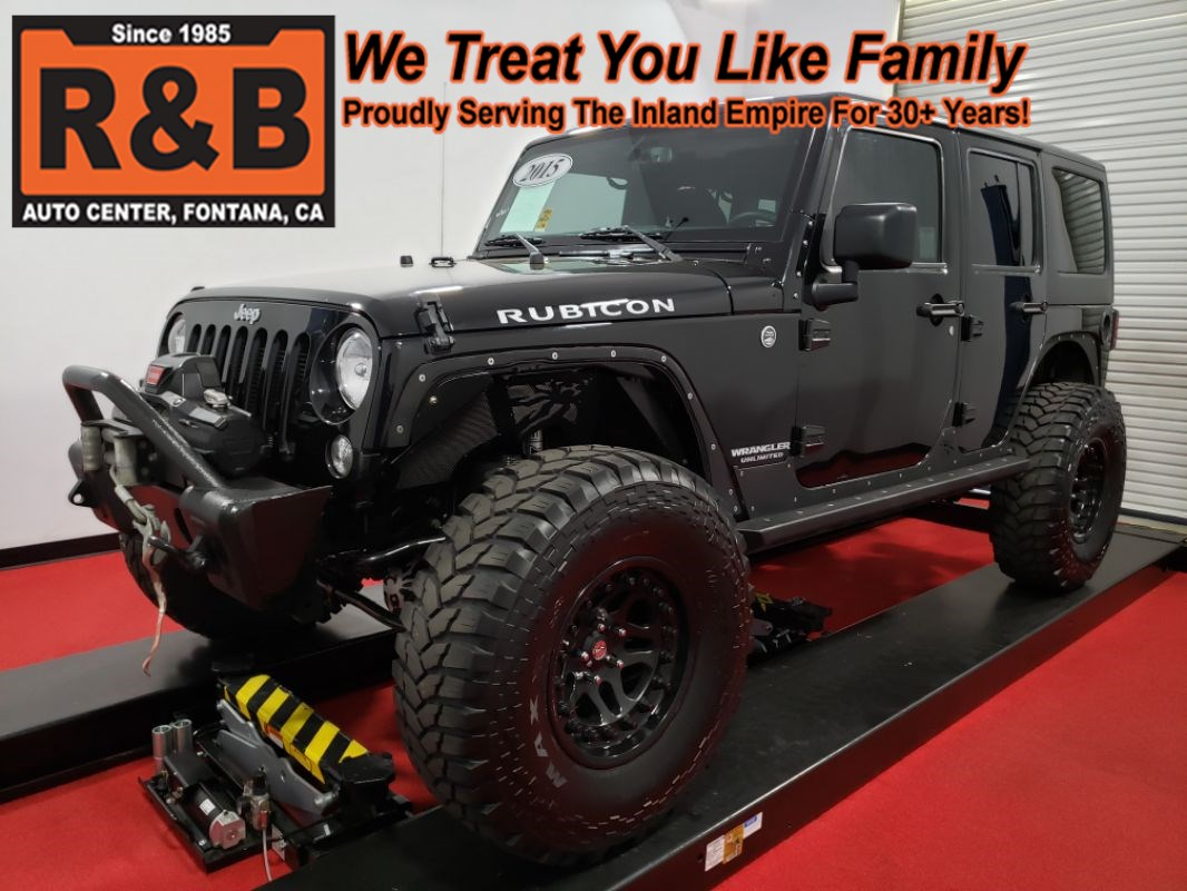 hight resolution of 2015 jeep wrangler unlimited rubicon 4x4 lifted