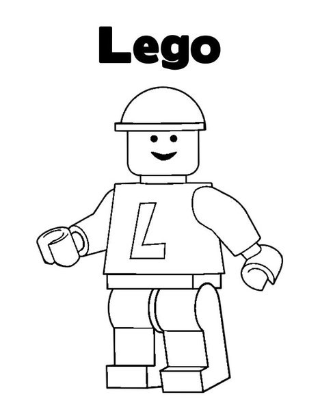 Free coloring pages of lego-logo