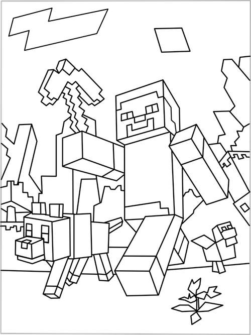 Kleurplaten Minecraft.20 Cute Boys Coloring Pages Dantdm Ideas And Designs