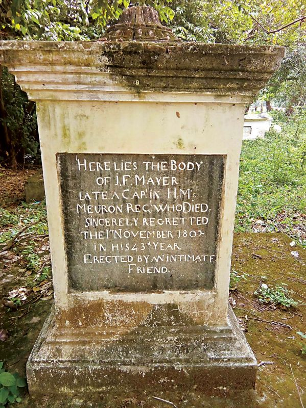 Tombs of British and Swiss soldiers and their families who stayed at Srirangapatna at the time of the Fourth Anglo-Mysore War.