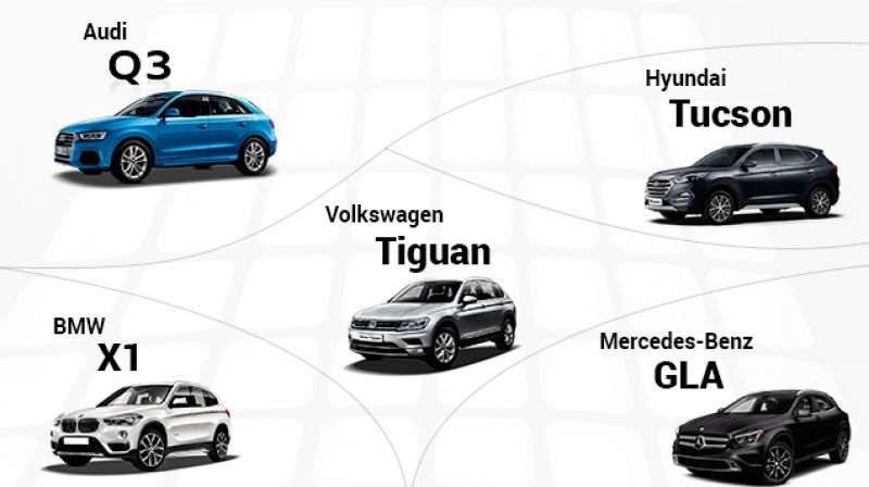 Volkswagen Tiguan vs Hyndai Tucson vs Audi Q3 vs BMW X1 vs