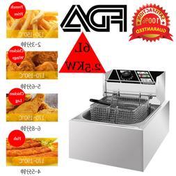 kitchener triple basket deep fryer kitchen cabinet finishes deepfryeri com 6l 2500w electric commercial tabletop restaurant