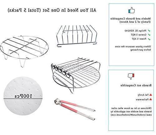 Befound Air Fryer Large Racks Accessories Kit, Fit