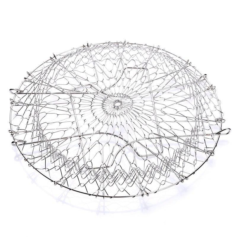 Stainless Steel Foldable Deep Fryer Basket Kitchen Colander