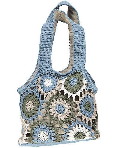 Deerberg Angebot: Deerberg Häkel-Tasche Yepa, Blau