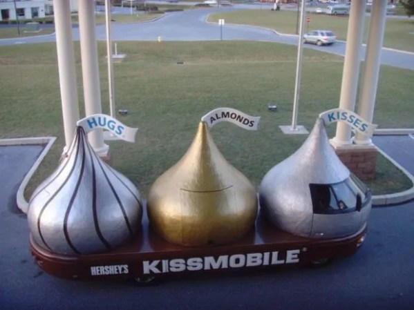 Giant Hershey Kisses sitting on a