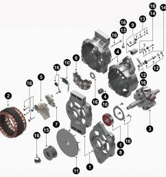 find a part delco remy delco remy alternator wiring schematic 22si service parts service parts [ 8255 x 7337 Pixel ]