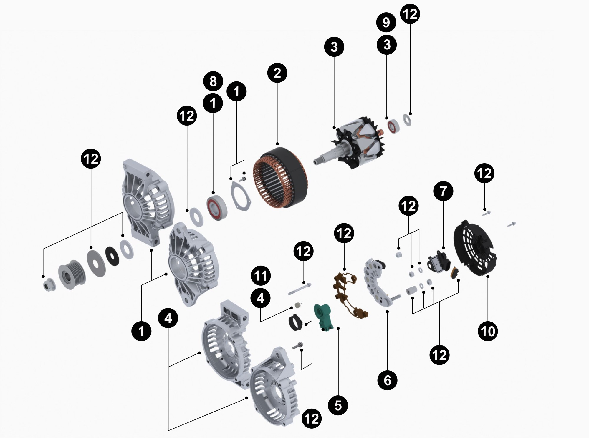 hight resolution of 8600201 28si new alternator service parts