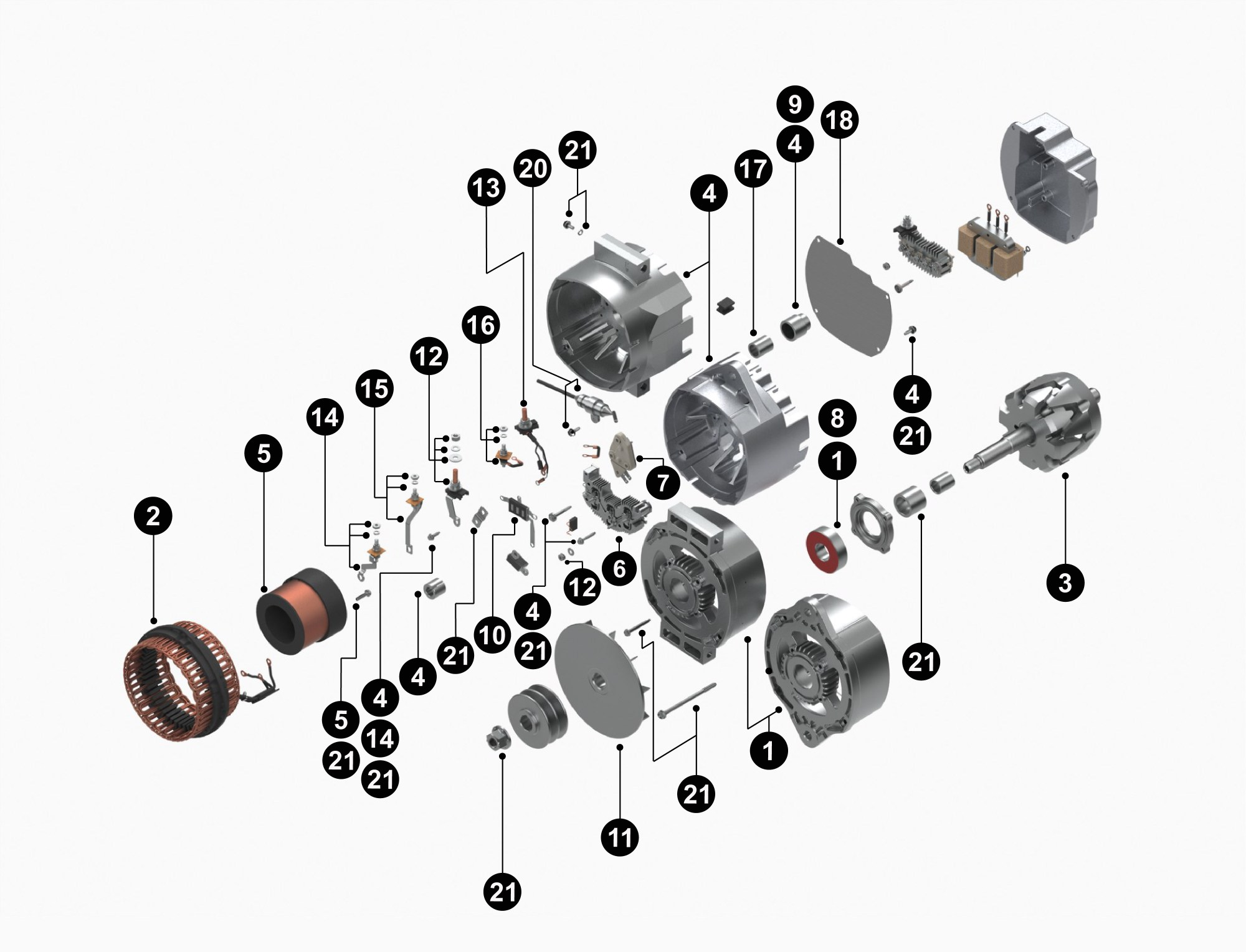 hight resolution of 50dn alternator diagram wiring diagram centre19011164 33si new alternator product details delco remy19011164 33si new alternator
