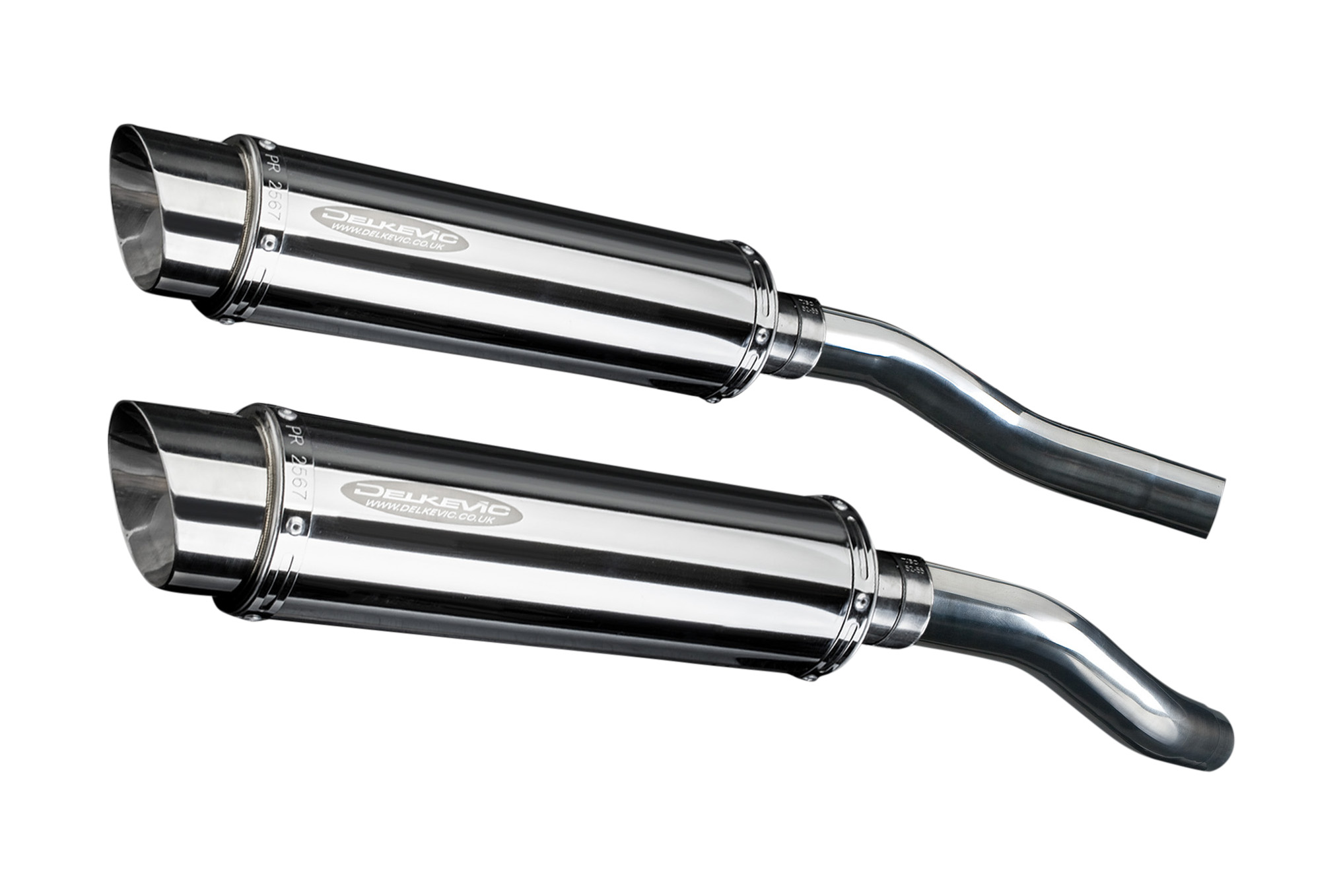 ROUND 350mm SL10 STAINLESS EXHAUST SILENCER HONDA ST1300